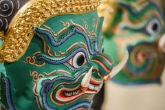 华Khon (泰国传统面具) 免版税库存照片