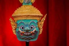 华Khon (泰国传统面具) 免版税库存图片