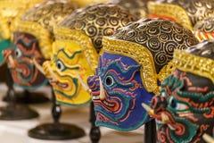 华Khon (泰国传统面具) 库存图片