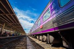 华Lamphong火车站在曼谷,泰国 免版税库存图片