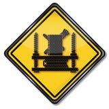 协会标志钉书匠 皇族释放例证
