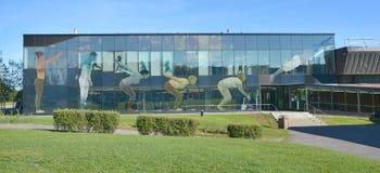 协和大学罗耀拉校园体育大厦 库存照片