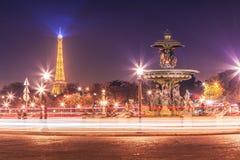 协和广场在晚上 库存图片