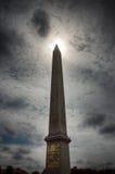 协和广场巴黎方尖碑  免版税库存照片