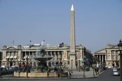 协和飞机巴黎广场 免版税图库摄影