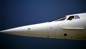 协和飞机机头部分 免版税库存照片