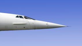 协和飞机详细资料 图库摄影