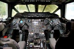 协和飞机驾驶舱 免版税库存照片