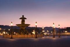 协和飞机de fountain la巴黎安排 库存照片