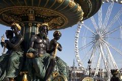 协和飞机ferris巴黎方形轮子 图库摄影