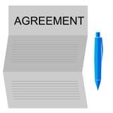 协议信件 皇族释放例证