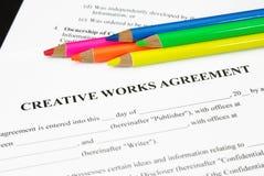 协议创造性的工作 免版税图库摄影