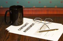 协议合同决策 免版税库存图片