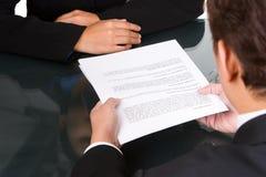 协议移交 免版税库存图片