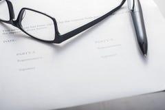 协议签字 免版税库存图片