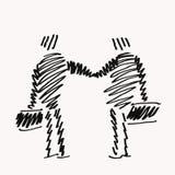协议草图 免版税库存照片