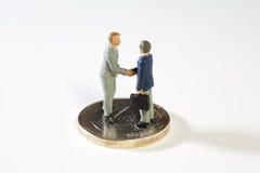 协议铕财政新的建议 免版税库存照片