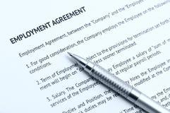 协议雇佣 免版税库存图片