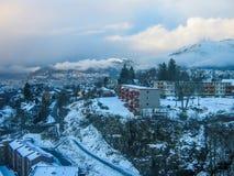 卑尔根在冬天 免版税库存照片