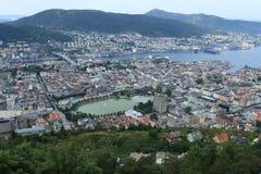 卑尔根地平线视图 免版税库存照片