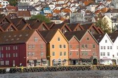 卑尔根安置木 免版税图库摄影