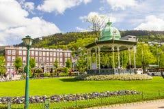 卑尔根市,挪威美丽的景色  库存照片