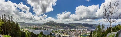 卑尔根市,挪威 库存图片