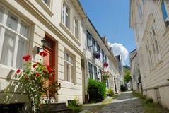 卑尔根房子 库存图片