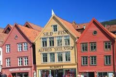 卑尔根挪威人城市 免版税库存图片