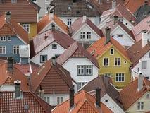 卑尔根挪威屋顶 免版税库存照片