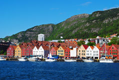 卑尔根挪威 库存照片
