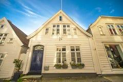 卑尔根木房子 图库摄影
