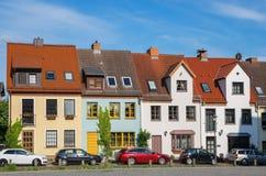 卑尔根经典之作房子 德国罗斯托克 免版税库存照片