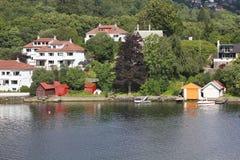 卑尔根郊区 免版税库存照片