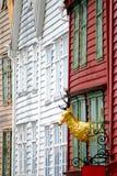 卑尔根门面房子 库存照片