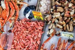 卑尔根,挪威,海鲜 库存图片