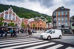 卑尔根,挪威- 6月15,2017 :卑尔根是城市和自治市 库存图片