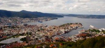 卑尔根,挪威 库存照片