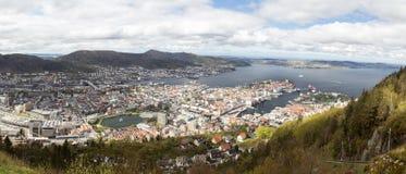 卑尔根, panoramatic 免版税库存图片