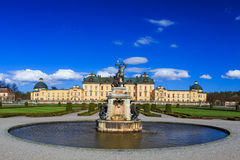 卓宁霍姆宫,瑞典-外在看法 免版税库存图片