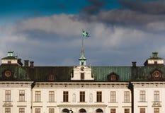 卓宁霍姆宫Estocolmo真正的帕拉西奥 免版税图库摄影