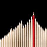 卓著的红色铅笔 免版税库存图片