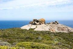 卓越的岩石坎加鲁岛,澳大利亚 免版税库存图片