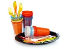 单一用处塑料,帮助环境的E。-欧洲方针 库存照片