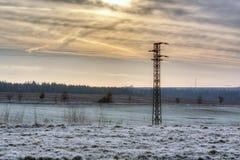 单一电子柱子在国家 库存照片