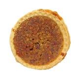 单个顶上的山核桃饼视图 免版税库存照片