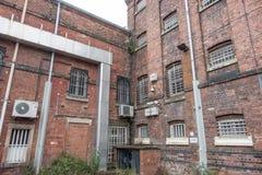 单元块外部在HMP舒兹伯利监狱的达娜 免版税库存照片