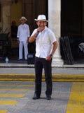 单口相声演员在梅里达尤加坦 图库摄影