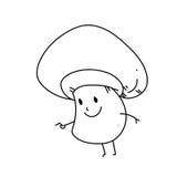 单图漫画人物共同性蘑菇 库存照片