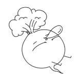 单图漫画人物甜菜根 免版税库存照片